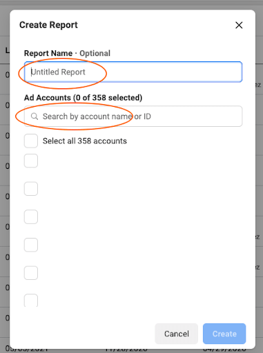 facebook business manager name report feature