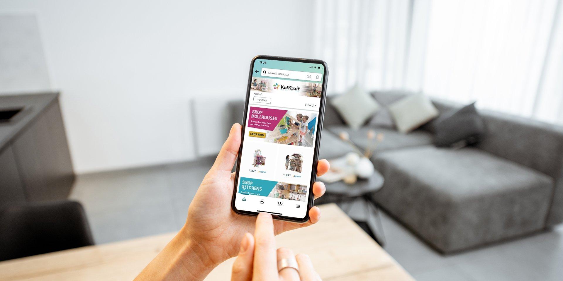 amazon shopping on phone