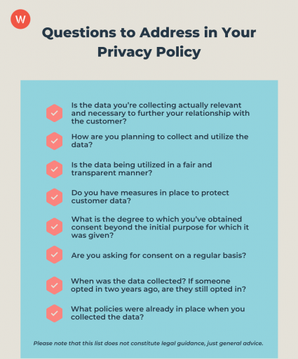 key questions to address in company privacy policy