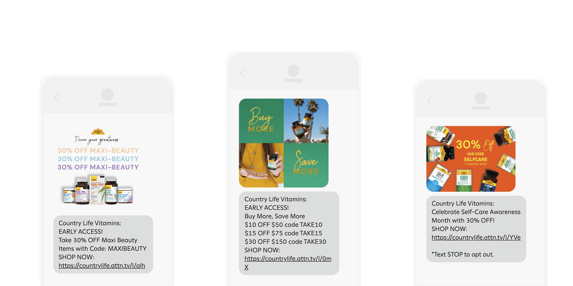 country life sms examples